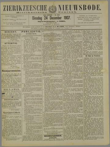 Zierikzeesche Nieuwsbode 1907-12-24