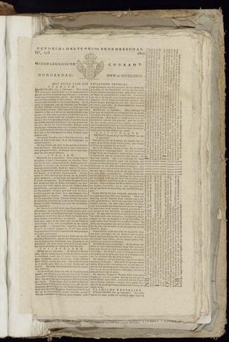 Middelburgsche Courant 1800-09-25