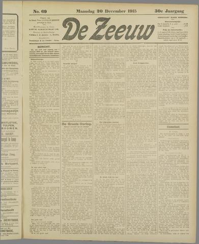 De Zeeuw. Christelijk-historisch nieuwsblad voor Zeeland 1915-12-20