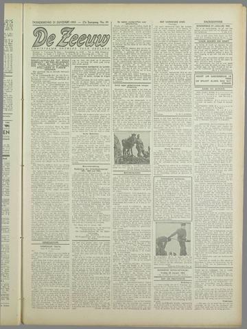 De Zeeuw. Christelijk-historisch nieuwsblad voor Zeeland 1943-01-21