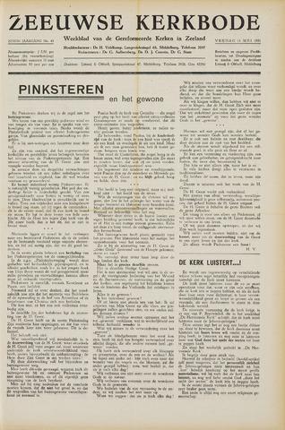 Zeeuwsche kerkbode, weekblad gewijd aan de belangen der gereformeerde kerken/ Zeeuwsch kerkblad 1951-05-11