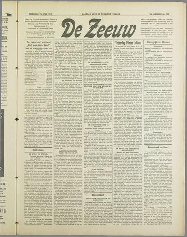 De Zeeuw. Christelijk-historisch nieuwsblad voor Zeeland 1937-04-29