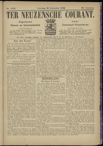 Ter Neuzensche Courant. Algemeen Nieuws- en Advertentieblad voor Zeeuwsch-Vlaanderen / Neuzensche Courant ... (idem) / (Algemeen) nieuws en advertentieblad voor Zeeuwsch-Vlaanderen 1882-12-30