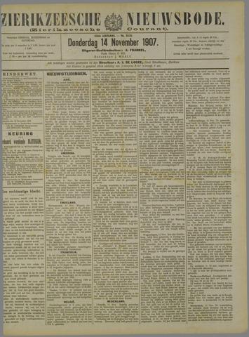 Zierikzeesche Nieuwsbode 1907-11-14