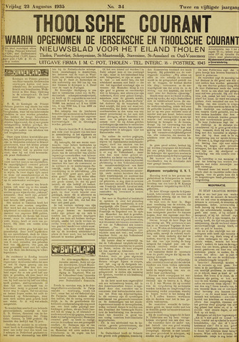 Ierseksche en Thoolsche Courant 1935-08-23