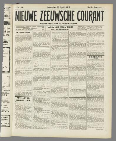 Nieuwe Zeeuwsche Courant 1907-04-25