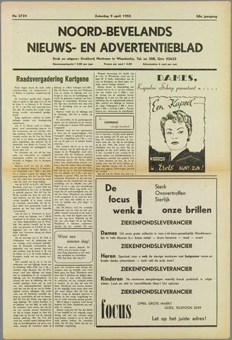 Noord-Bevelands Nieuws- en advertentieblad 1955-04-09