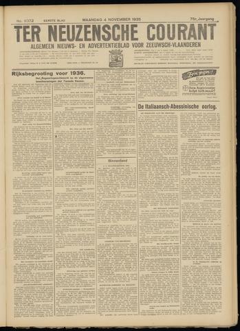Ter Neuzensche Courant. Algemeen Nieuws- en Advertentieblad voor Zeeuwsch-Vlaanderen / Neuzensche Courant ... (idem) / (Algemeen) nieuws en advertentieblad voor Zeeuwsch-Vlaanderen 1935-11-04