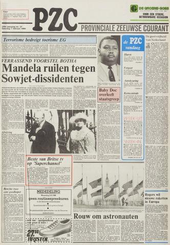 Provinciale Zeeuwse Courant 1986-02-01