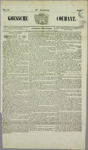 Goessche Courant 1854-10-26