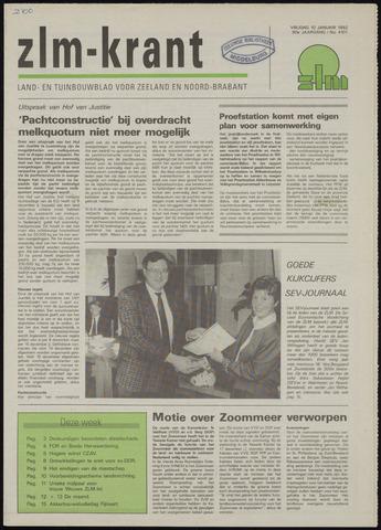 Zeeuwsch landbouwblad ... ZLM land- en tuinbouwblad 1992