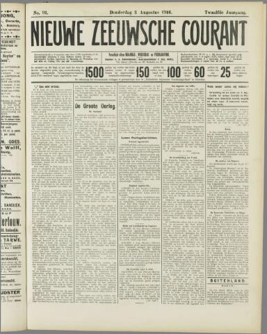 Nieuwe Zeeuwsche Courant 1916-08-03