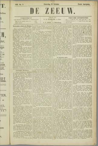 De Zeeuw. Christelijk-historisch nieuwsblad voor Zeeland 1891-10-10