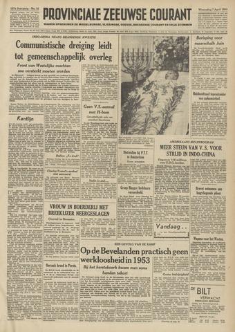 Provinciale Zeeuwse Courant 1954-04-07