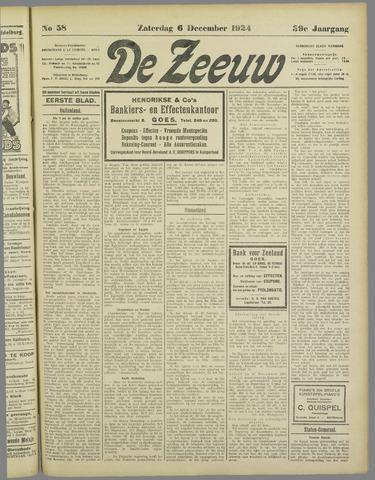 De Zeeuw. Christelijk-historisch nieuwsblad voor Zeeland 1924-12-06