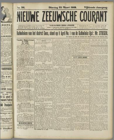 Nieuwe Zeeuwsche Courant 1919-03-25