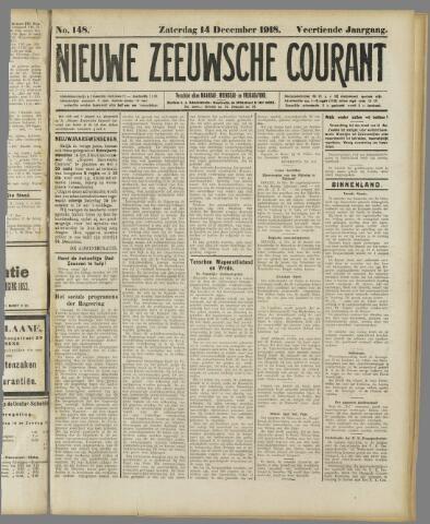 Nieuwe Zeeuwsche Courant 1918-12-14