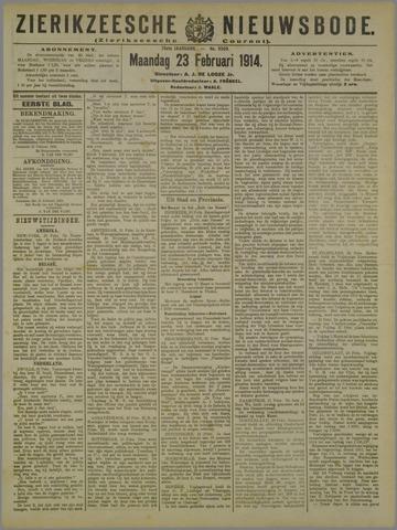 Zierikzeesche Nieuwsbode 1914-02-23