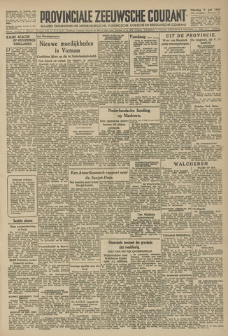 Provinciale Zeeuwse Courant 1946-07-09