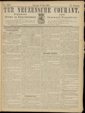 Ter Neuzensche Courant. Algemeen Nieuws- en Advertentieblad voor Zeeuwsch-Vlaanderen / Neuzensche Courant ... (idem) / (Algemeen) nieuws en advertentieblad voor Zeeuwsch-Vlaanderen 1907-07-27