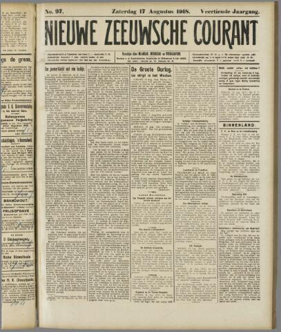 Nieuwe Zeeuwsche Courant 1918-08-17