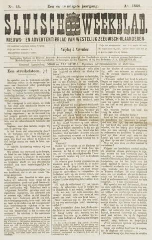 Sluisch Weekblad. Nieuws- en advertentieblad voor Westelijk Zeeuwsch-Vlaanderen 1880-11-05