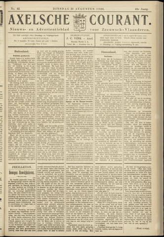 Axelsche Courant 1926-08-31