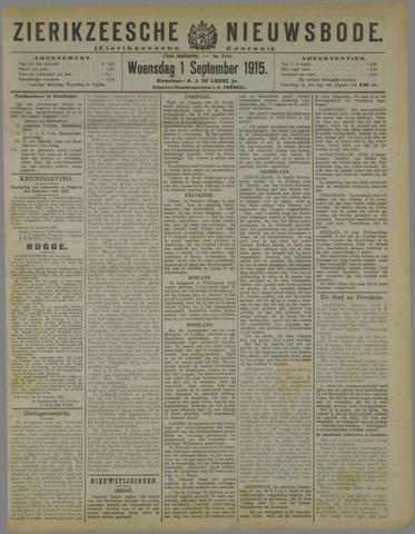 Zierikzeesche Nieuwsbode 1915-09-01