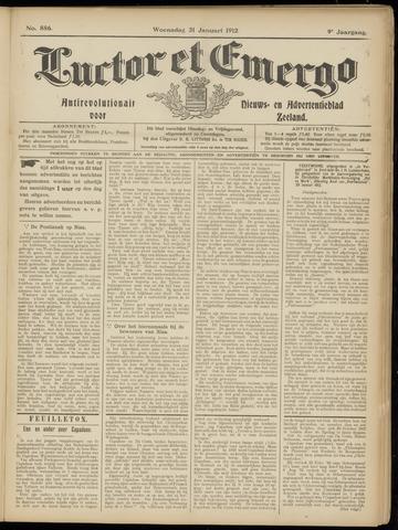 Luctor et Emergo. Antirevolutionair nieuws- en advertentieblad voor Zeeland / Zeeuwsch-Vlaanderen. Orgaan ter verspreiding van de christelijke beginselen in Zeeuwsch-Vlaanderen 1912-01-31