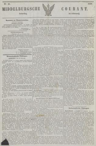 Middelburgsche Courant 1850-02-16