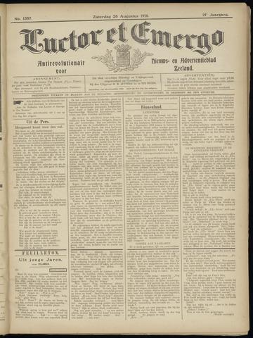 Luctor et Emergo. Antirevolutionair nieuws- en advertentieblad voor Zeeland / Zeeuwsch-Vlaanderen. Orgaan ter verspreiding van de christelijke beginselen in Zeeuwsch-Vlaanderen 1916-08-26