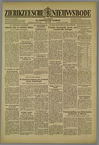 Zierikzeesche Nieuwsbode 1952-08-21