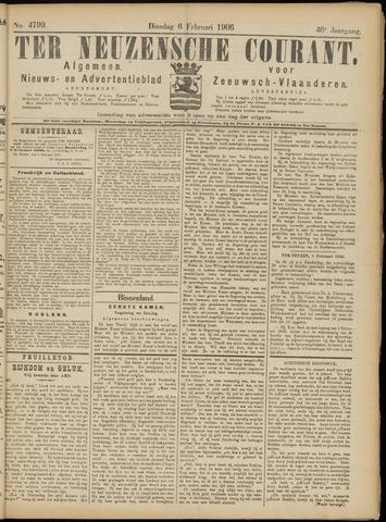 Ter Neuzensche Courant. Algemeen Nieuws- en Advertentieblad voor Zeeuwsch-Vlaanderen / Neuzensche Courant ... (idem) / (Algemeen) nieuws en advertentieblad voor Zeeuwsch-Vlaanderen 1906-02-06