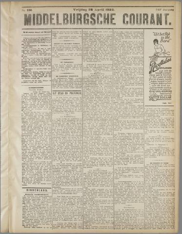 Middelburgsche Courant 1922-04-28