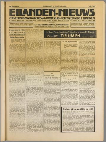 Eilanden-nieuws. Christelijk streekblad op gereformeerde grondslag 1938-01-15