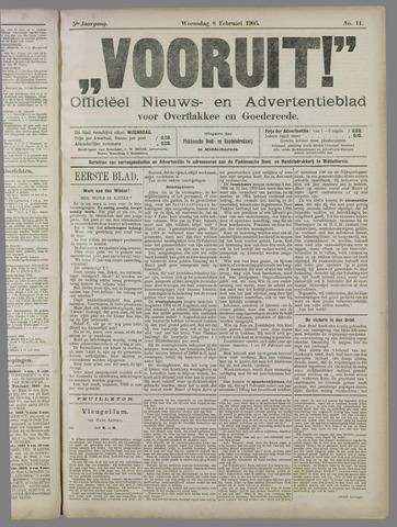 """""""Vooruit!""""Officieel Nieuws- en Advertentieblad voor Overflakkee en Goedereede 1905-02-08"""