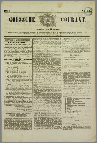 Goessche Courant 1851-07-03