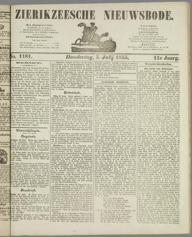 Zierikzeesche Nieuwsbode 1855-07-05