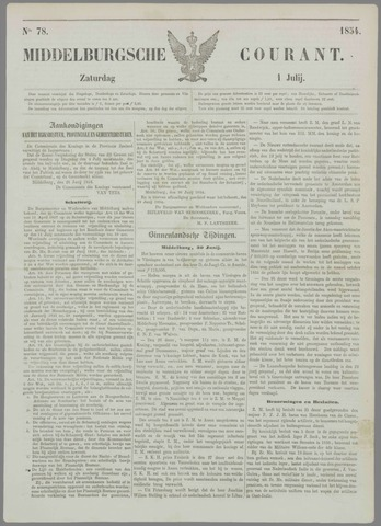 Middelburgsche Courant 1854-07-01