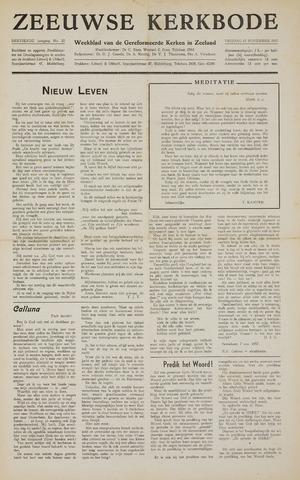Zeeuwsche kerkbode, weekblad gewijd aan de belangen der gereformeerde kerken/ Zeeuwsch kerkblad 1957-11-15