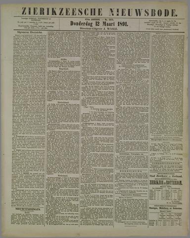 Zierikzeesche Nieuwsbode 1891-03-12