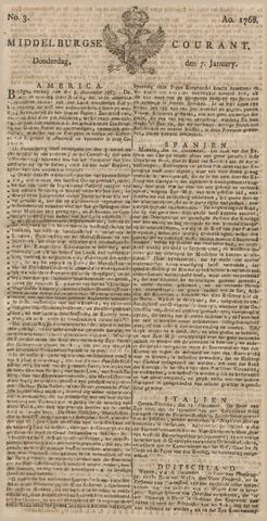 Middelburgsche Courant 1768-01-07