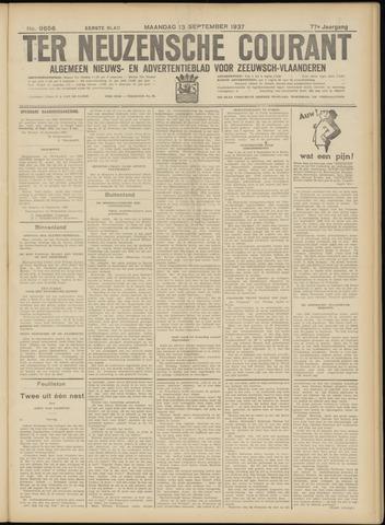 Ter Neuzensche Courant. Algemeen Nieuws- en Advertentieblad voor Zeeuwsch-Vlaanderen / Neuzensche Courant ... (idem) / (Algemeen) nieuws en advertentieblad voor Zeeuwsch-Vlaanderen 1937-09-13
