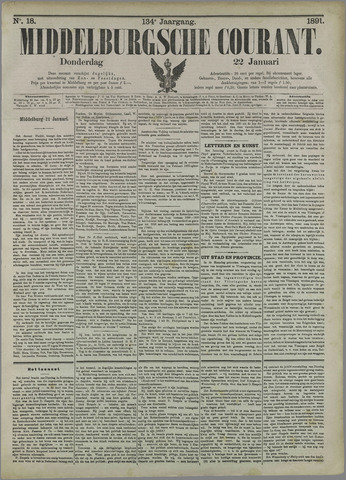 Middelburgsche Courant 1891-01-22