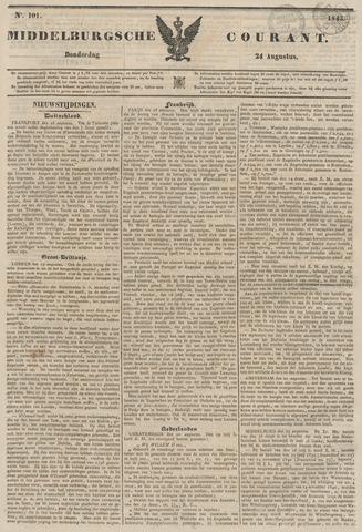 Middelburgsche Courant 1843-08-24