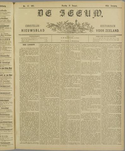 De Zeeuw. Christelijk-historisch nieuwsblad voor Zeeland 1897-01-19