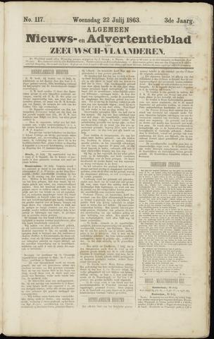 Ter Neuzensche Courant. Algemeen Nieuws- en Advertentieblad voor Zeeuwsch-Vlaanderen / Neuzensche Courant ... (idem) / (Algemeen) nieuws en advertentieblad voor Zeeuwsch-Vlaanderen 1863-07-22