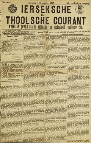 Ierseksche en Thoolsche Courant 1917-09-01