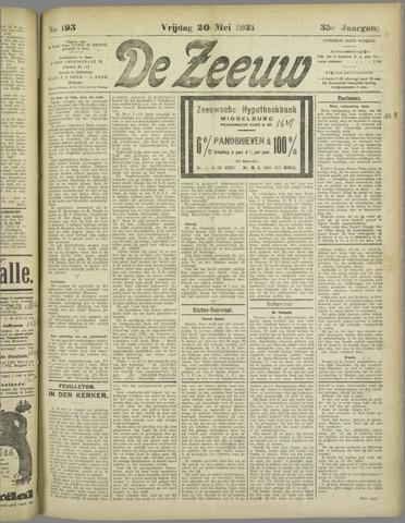 De Zeeuw. Christelijk-historisch nieuwsblad voor Zeeland 1921-05-20
