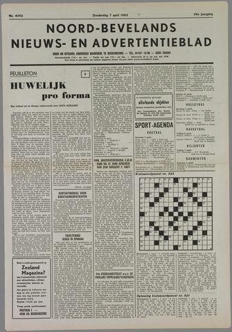 Noord-Bevelands Nieuws- en advertentieblad 1983-04-07